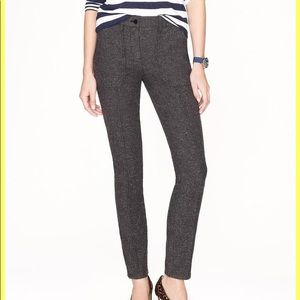 NWT J.Crew Charcoal Herringbone pants